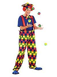 Karierter Clown Kostüm