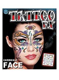 Karneval Gesicht-Klebetattoo