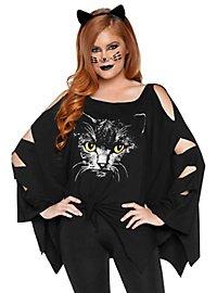 Katze Poncho-Shirt mit Katzenohren