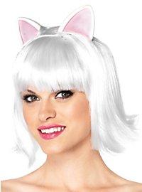 Katzenperücke kurz weiß