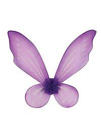 Kinder Glitzerflügel lila