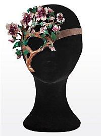 Kirschblütenzweig Halbseitige Augenmaske aus Leder