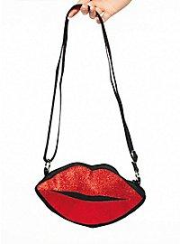 Kissing mouth handbag