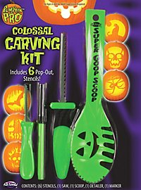 Kit de démarrage pour citrouille d'Halloween vert