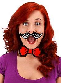 Kit de moustaches pixélisées