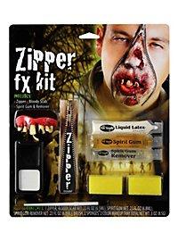 Kit effet spécial fermeture éclair zombie