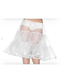 Knee-length Petticoat white