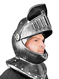 Knight helmet with visor