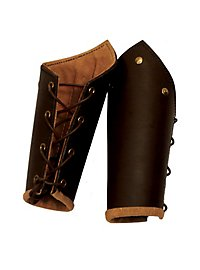 Knight's Leather Vambraces brown