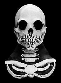 Knochenmann grau Maske aus Latex