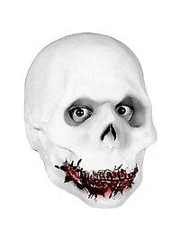 Knochenschädel Maske aus Schaumlatex