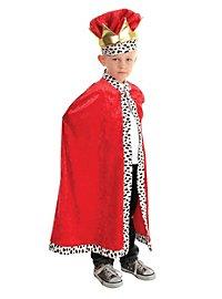König Umhang für Kinder