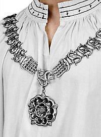 Königliche Halskette mit Tudor Rose silber