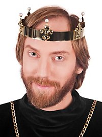 Königs Krone mit Perlen