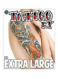 Koi Temporary Tattoo