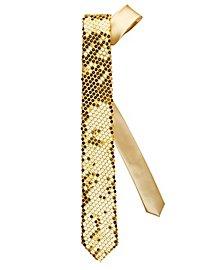 Krawatte Pailletten gold