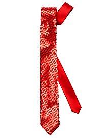 Krawatte Pailletten rot