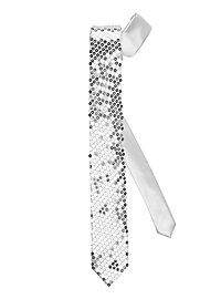Krawatte Pailletten silber