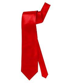 Krawatte Satin rot
