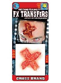 Kreuz Brandwunde 3D FX Transfer