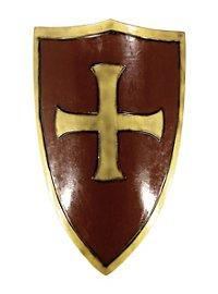 Kreuzritterschild rot-gold Polsterwaffe