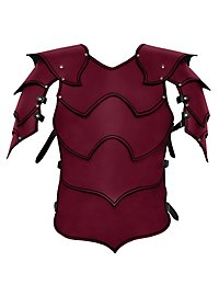 Lederrüstung mit Schultern - Kriegsherr rot