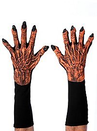 Kürbiskönig Klauen Handschuhe