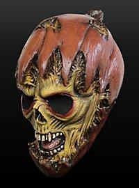 Kürbismonster Maske aus Latex