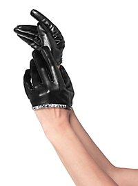 Kurze Handschuhe mit Nietensaum