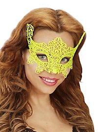 Lace mask neon-yellow