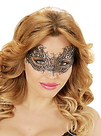 Lace mask silver