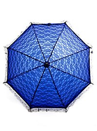 Lace Parasol blue & black