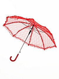 Lace Parasol red