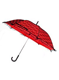 Lace Parasol red & black