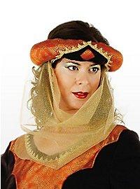 Ladies Turban with Veil Costume
