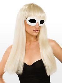 Lady Gaga avec cheveux longs lisses Perruque