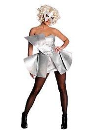 Lady Gaga Paillettenkleid silbern