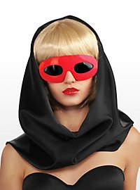 Lady Gaga Sonnenbrille rot