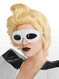 Lady Gaga Sonnenbrille weiß