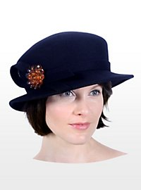 Lampshade Hat with Brooch