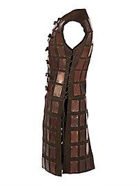 Lange Brigantine aus Leder braun