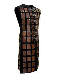 Lange Brigantine aus Leder braun-schwarz