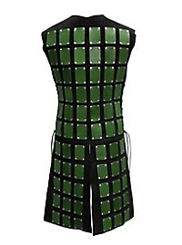 Lange Brigantine aus Leder grün-schwarz