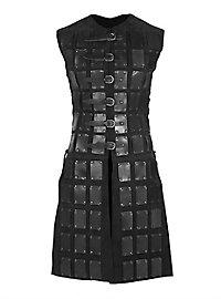 Lange Brigantine aus Leder schwarz