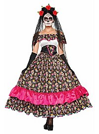 Langes Sugar Skull Kleid
