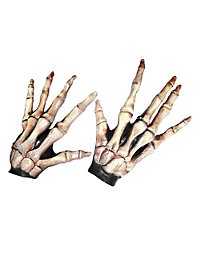 Langfinger Skeletthände knochenfarben aus Latex