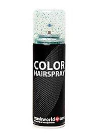 Laque scintillante à cheveux verte