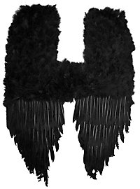 Large Black Demon Feather Wings