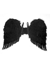 Large Feather Wings black