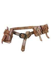 Leather Adventurer Belt Set brown